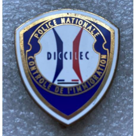 DICCILEC Police Nationale Contrôle de l'Immigration 40mm