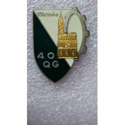 40e Compagnie de Quartier Général résine