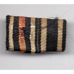 Barrette rubans Croix de Fer 14/18 et Croix du Mérite de Guerre 14/18