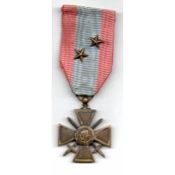 Croix de Guerre des Théatres d'Opérations Extérieurs avec 2 étoiles bronze