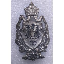 petite plaque aux armoiries de l'Allemagne impériale