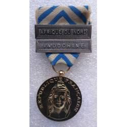 Médaille de la Reconnaissance de la Nation avec agrafes Indochine et AFN