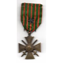 Croix de Guerre 1914-1918 avec étoile bronze