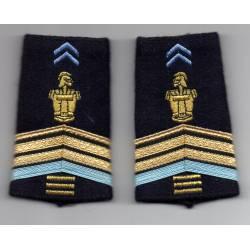 Fourreaux d'épaules de Caporal Chef des Transmissions
