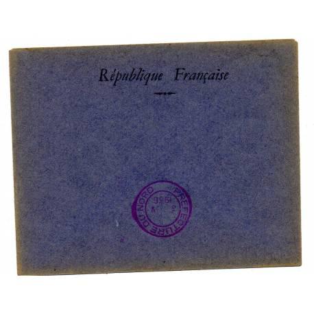 enveloppe de vote Préfecture du Nord 1936