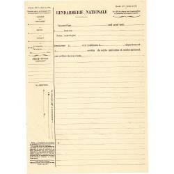 Formulaire mle n°7 Circulaire Minist. du 26/12/1904