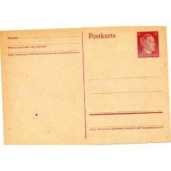 Carte postale allemande 6 pfennig rouge