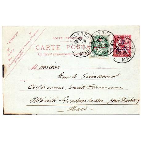 Carte postale du 29/06/1912 CASABLANCA