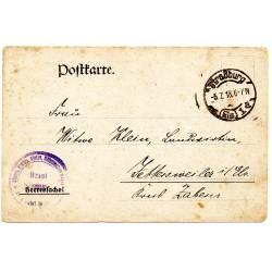 Carte postale datée du 05/07/1918 de Strasbourg