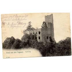 Carte postale du château du Spesburg Alsace
