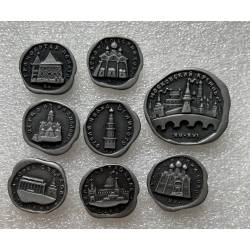 lot de 8 broches pin's russes monuments