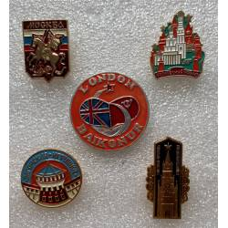 lot de 5 broches pin's russes divers