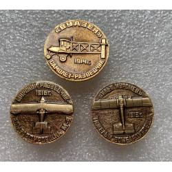 lot de 3 broches pin's russes aviation 1913 - 1914 -1916