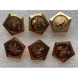lot de 6 broches pin's russes stations spatiales