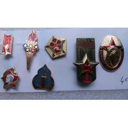 lot de 7 broches pin's russes divers