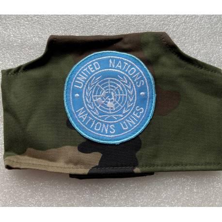 brassard camouflé avec écusson de l'ONU