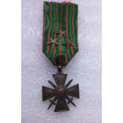 Croix de Guerre 1914-1916 avec 3 étoiles bronze