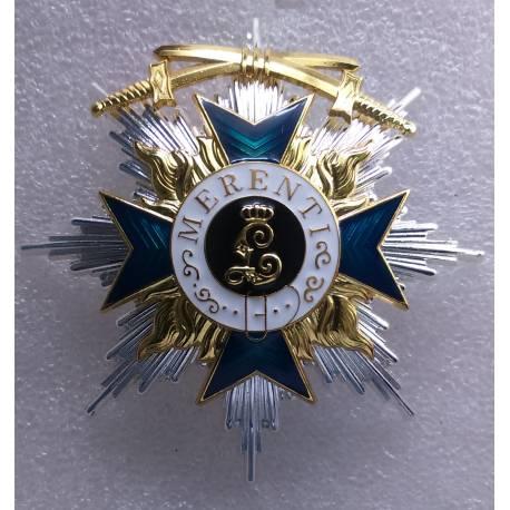 Ordre du Mérite Militaire bavarois avec épée 1ere classe reproduction