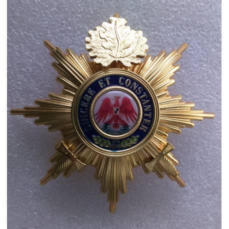Ordre de l'Aigle Rouge étoile de 1ere classe avec épées et feuille de chêne reproduction