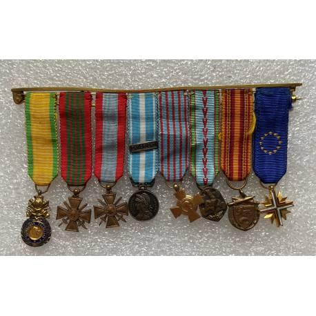 Barrette 8 décorations réductions 2e Guerre Mondiale et T.O.E.