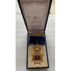 BELGIQUE : Ordre de Léopold II Commandeur dans son écrin