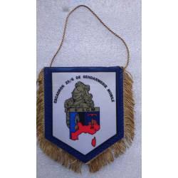 Fanion de l'Escadron de Gendarmerie Mobile 23/6 de la 6e Légion de Gendarmerie Mobile