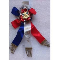 Conscrits Honneur et Patrie Vive la Classe avec rubans tricolores