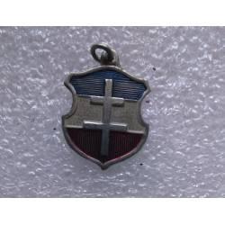 Libération : petite médaille peint tricolore avec Croix de Lorraine