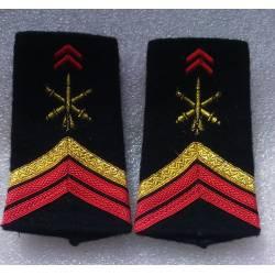 Fourreaux d'épaule de l'Artillerie Caporal Chef