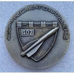 402e Régiment d'Artillerie médaille de table