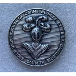Ecole d'Application de l'Arme Blindée et de la Cavalerie SAUMUR Médaille de table